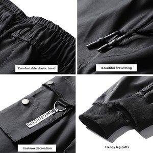Image 3 - hip hop men pantalones hombre kpop casual cargo pants skinny sweatpants joggers modis streetwear trousers harajuku track pants