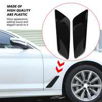 2Pc For BMW 5 Series G30 2017-2018 Fender Side Air Vent Outlet Cover Trim Decorative Sticker Piano-Black Car Accessories