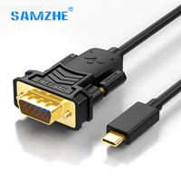 SAMZHE USB 3 1 Type C To VGA Cable Male To Male AM AM VGA Adapter