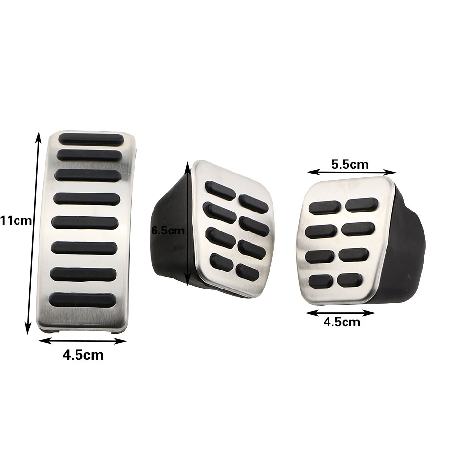 Jameo Auto font b Car b font Fuel Brake Clutch Pedals Pedal Cover for Volkswagen VW