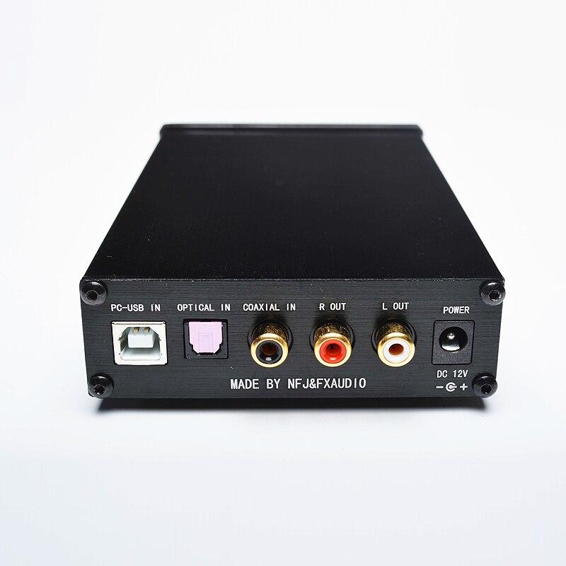 Nuevo FX-AUDIO DAC-X6 MINI HiFi Digital 2,0 decodificador de Audio DAC USB de entrada/Coaxial/Salida Óptica RCA/amplificador 24Bit/96 KHz DC12V - 3