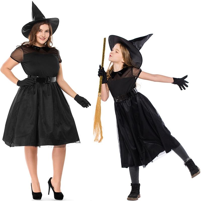 Adult Women Mother Kids Girls Gothic Halloween Morticia
