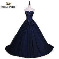 Благородный WEISS темно голубое праздничное платье 2019 бальное платье Милая без бретелек Vestidos de 15 anos аппликация кружево Сладкий 16 платья для же