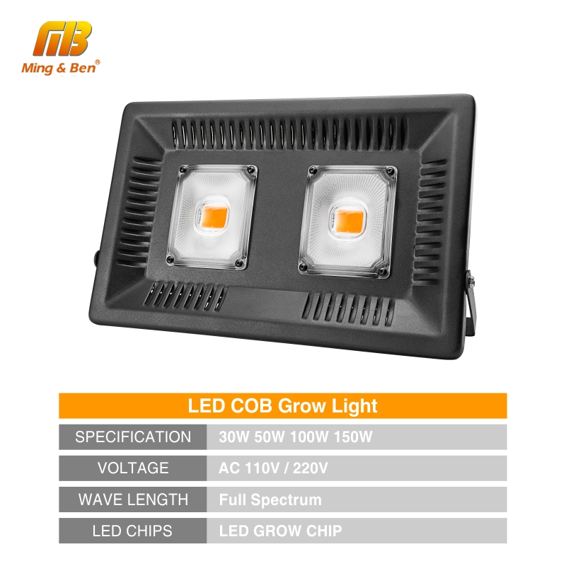 Image 2 - Full Spectrum Lamp LED Growing Light 50W 100W 150W AC 110V 220V High power Outdoor Waterproof for Greenhouse hydroponics seeding-in LED Grow Lights from Lights & Lighting