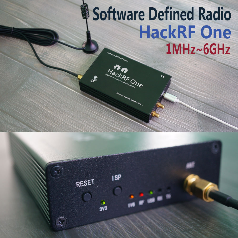 HackRF One usb platform reception of signals RTL SDR Software Defined Radio 1MHz to 6GHz software demo board kit dongle receiver 2018 hackrf one rtl 1mhz to 6 ghz 8bit quadrature rf system software defined radio sdr communication experimental platform