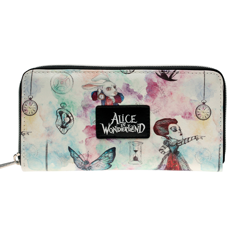 Alice In Wonderland Zip Around Wallet  Fashion Women Wallet Designer Brand  Purse Lady Party Wallets Female Card Holder