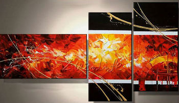 Cuadros Decoracion 3 piece panel canvas art Modern abstract  hand painted picture oil painting 2