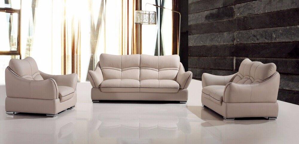 € 1008.81 |Chaise pouf Chaise précipitée Style européen ensemble pas de  pouf en cuir véritable fauteuil canapés pour salon canapé moderne Design-in  ...