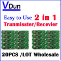 DHL Free shipping 20pcs 2in1 wireless dmx 512 Controller transmitter & receiver PCB module DMX Stage Lighting Controler