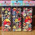Comercio al por mayor 10 Unids/lote animal de la Historieta pegatinas de pared para niños habitaciones decoración Del Diario Del Cuaderno Etiqueta Decoración juguete pájaro rojo 3D etiqueta