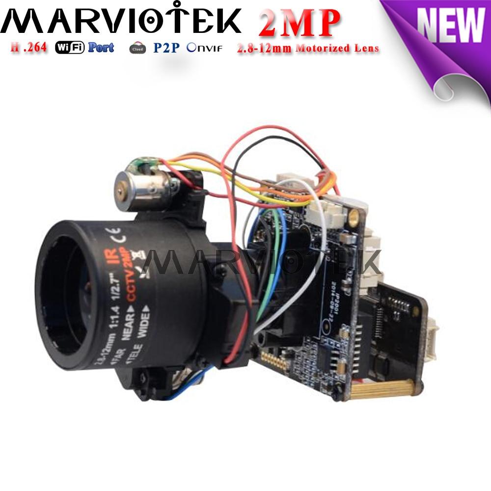2MP H.264 ip camera module 1080P Sony IMX323+ HI3516CV200 motorized zoom 2.8-12MM audio port for cctv surveillance