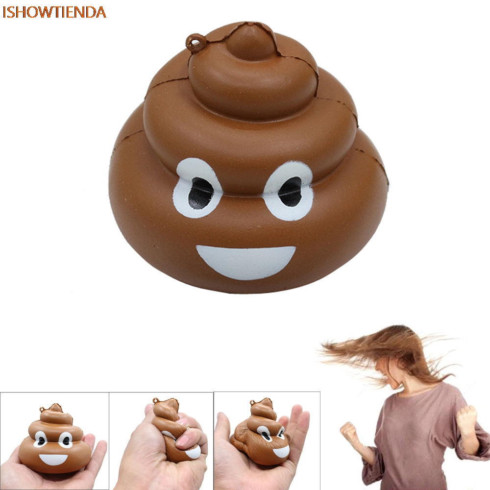 Squishy Crazy Stool Squeeze Poo Slow Rising Fun Toy Relieve Stress Cure Decor PU Galaxy Cute Gift Toys Stress Relief Reliever