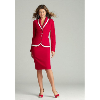Fashion new women's suit two-piece suit (jacket + skirt) ladies business office formal overalls support customization