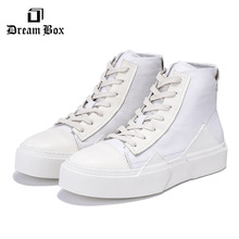 Autumn And Winter New White High-top Casual Shoes British Mens Trend Мужская обувь