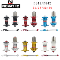 Novatec hub D041SB D042SB disc card brake MTB mountain bike hub bearing bicycle hubs 24 28 32 36 Holes 24h 28h 32h 36h 6 colors