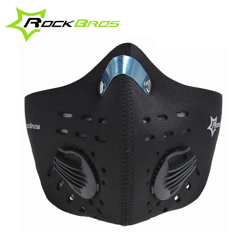 RockBros Activated Carbon Mask Anti-Dust Windproof Running Cycling Mask Half Face Outdoor Sports Bicycle Mask & Filter 8 Colors outdoor cycling half face mask dust windproof anti pollen allergy activated carbon masks filter sports riding running lcc