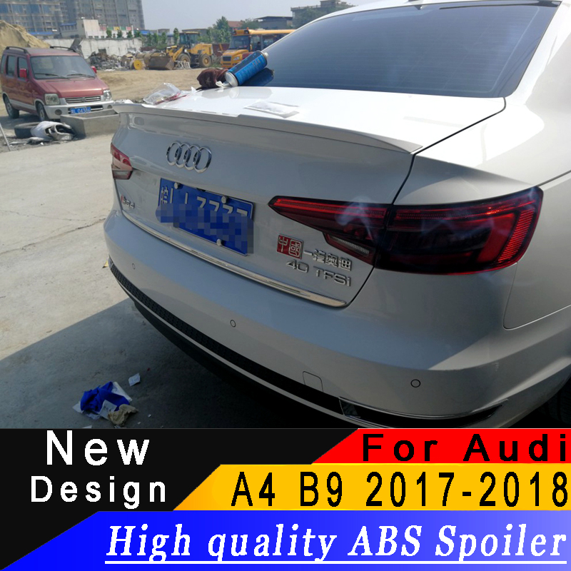 For Audi A4 B9 2017 2018 4 door Sedan spoiler ABS material any color or primer car rear wing car modified spoiler|Spoilers & Wings| |  - title=