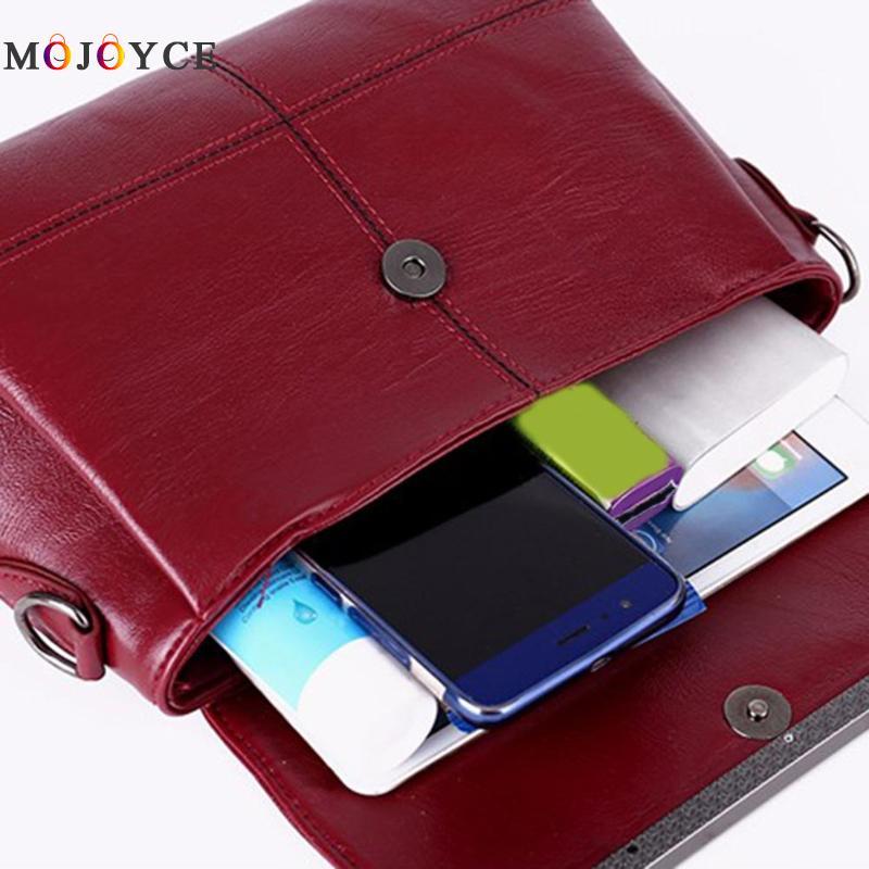 Retro PU Leather Women Shoulder Bags Luxury Brand Flap Messenger Bag Elegant Office Ladies Handbag Bolsa Feminina 5
