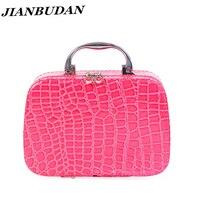 Women Simple Fashion Portable Cosmetic Storage Box Nail Beauty Woman Suitcase