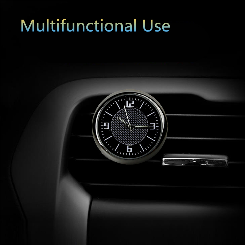 Watch in Car for BMW E 30 34 36 38 39 46 53 60 82 83 87 90 92 F 11 20 With LOGO Mini Round black pointer luminous car clock saat