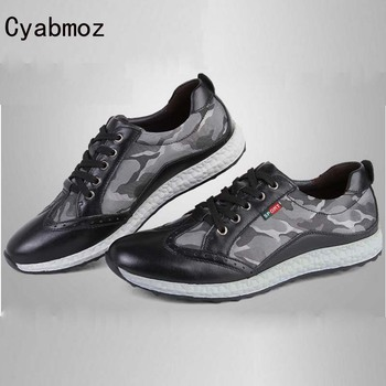 Cyabmoz Brand 2017 Youth Camouflage Canvas Shoes Lovers Casual Shoes Lace Up  Brogue Breathable Flats Men Zapatos Hombre