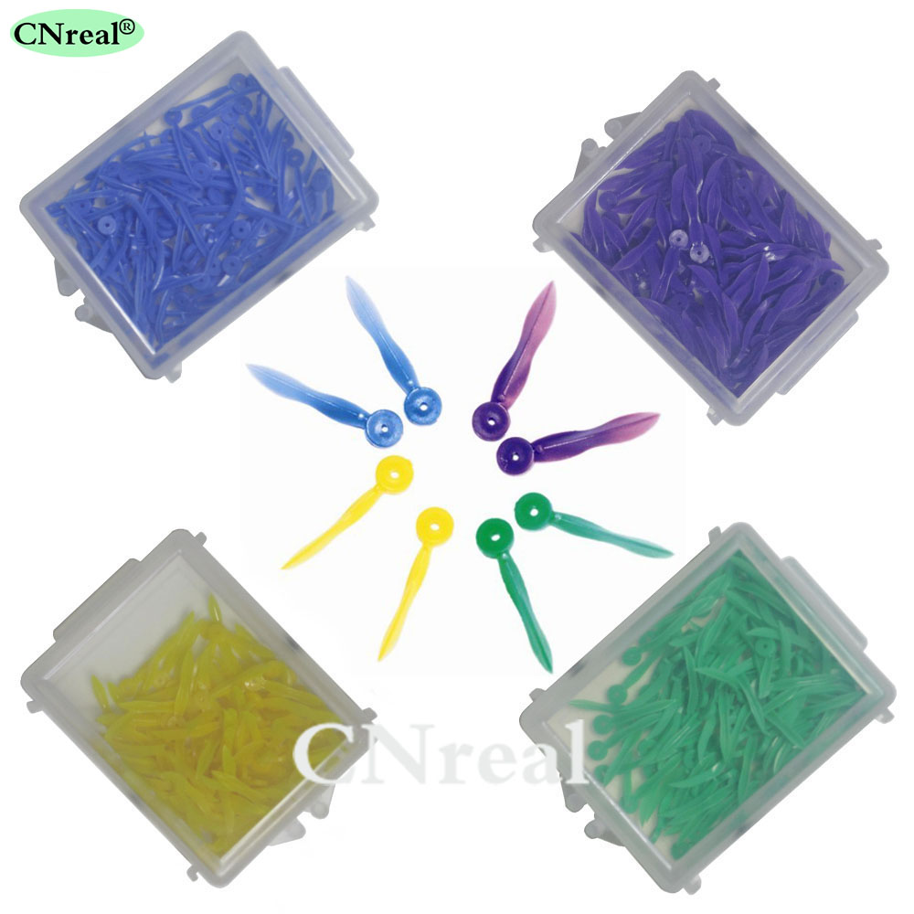 4 cajas / set Cuñas plásticas dentales diseño cóncavo de arco con - Higiene oral