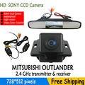 """Wieless 4.3 """"TFT LCD de Visão Traseira Do Carro de Estacionamento Monitor Espelho Monitor Do Carro + SONY CCD Da Câmera de backup para Mitsubishi Outlander 2007-2010"""