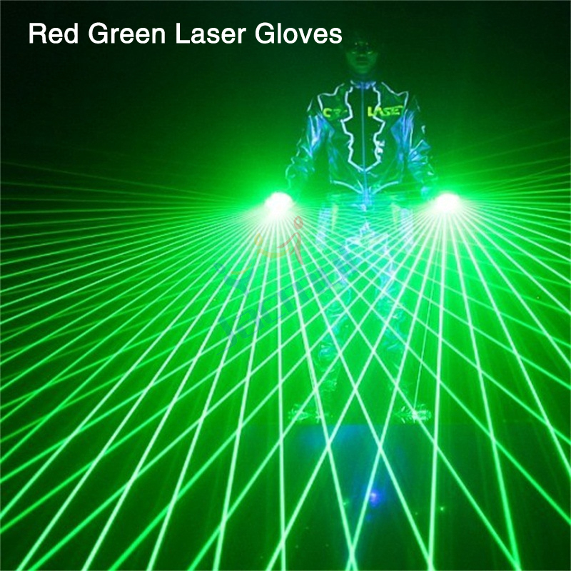 Right Or Left Glove Red Green Laser Gloves For Show Night Club Bar