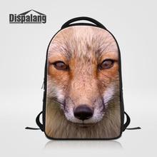 Dispalang большой Ёмкость 14-дюймовый ноутбук рюкзаки человек Школьные сумки животных с принтом лисы рюкзак женщин ноутбук сумка Mochila Masculina