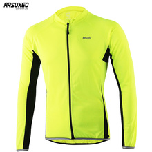 ARSUXEO Men s Outdoor Sports Cycling Jersey Spring Summer Bike Bicycle Long Sleeves MTB Clothing Shirts