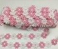 2.6 cm flor bordado Lace coloridos DIY acessórios de costura 1 jarda / lot