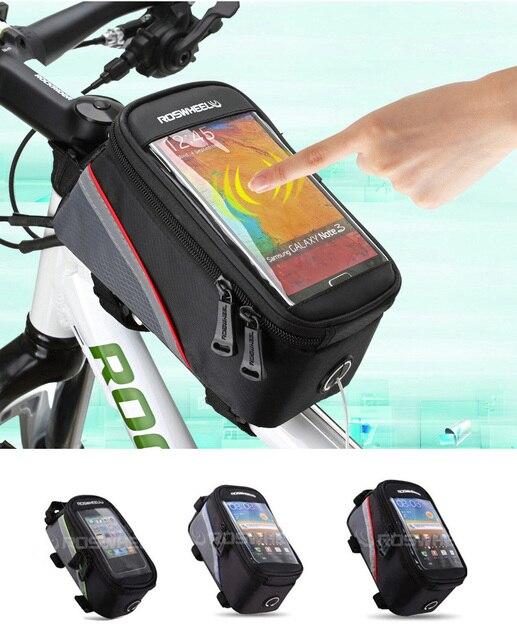 Saco de bicicleta Quadro Da Bicicleta Pannier Saco Tubo Frente Bolsa 6 S 6  7 Além 802bfd70a77