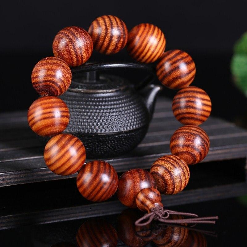 Fine JoursNeige naturel poire bois Bracelets 20mm bouddha perles Bracelets vieux matériel exquis Bracelet pour hommes mode bijoux