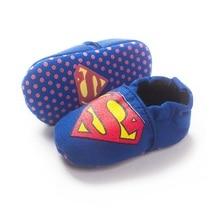 Blue Superman Newborn Baby Shoes