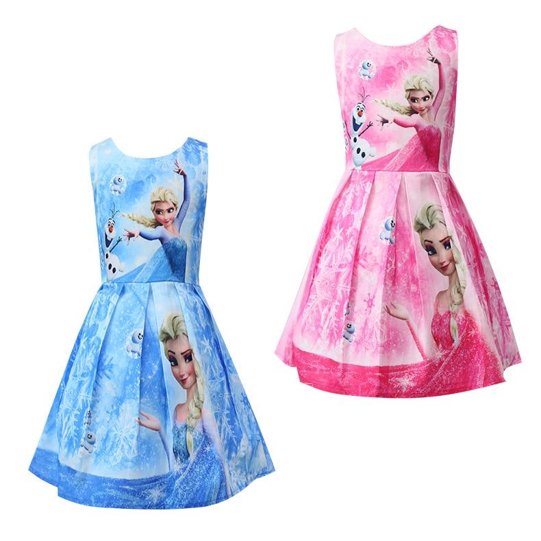 Kids Dresses For Girls Snow Queen Elsa Costume Children Clothing Little Girls Dresses Princess Birthday Party Dress 2018 Summer