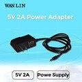Lin wan tipo reino unido ee.uu. ue adaptador de corriente dc 5 v 2a cctv fuente de alimentación de 3.5mm x 1.35mm plug power adaptador de wifi de la cámara