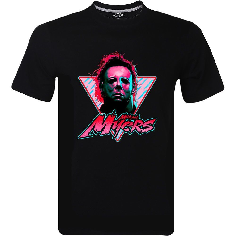 Michael Myers Classic Horror Slasher Movie Bloody Knives T-Shirt Print T Shirt Men Summer Style Fashion top tee