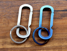 Christmas Gifts Titanium Alloy Bearing Type Design Key Ring Multi-purpose Fast Hook Car Chain EDC Multi Tools Keychain New