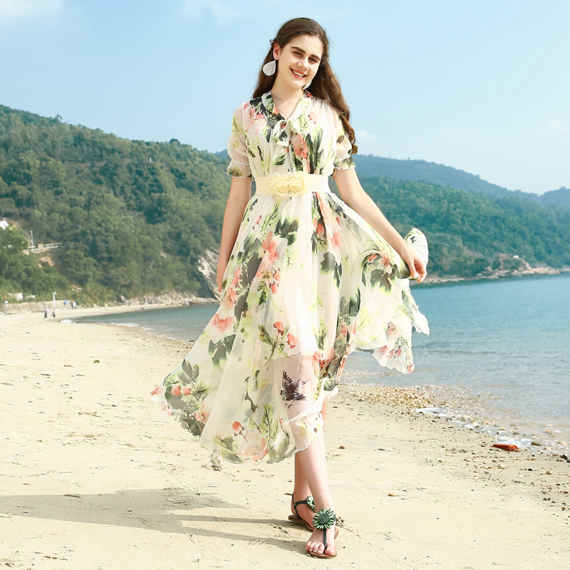 Buy beach dress pattern and get free shipping on AliExpress.com 1c1441132801