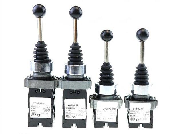 4NO 4 Posizione croce rocker interruttore XD2PA14 XD2PA24 joystick controller/2NO 2 Posizione interruttore a bilanciere XD2PA12 XD2PA22