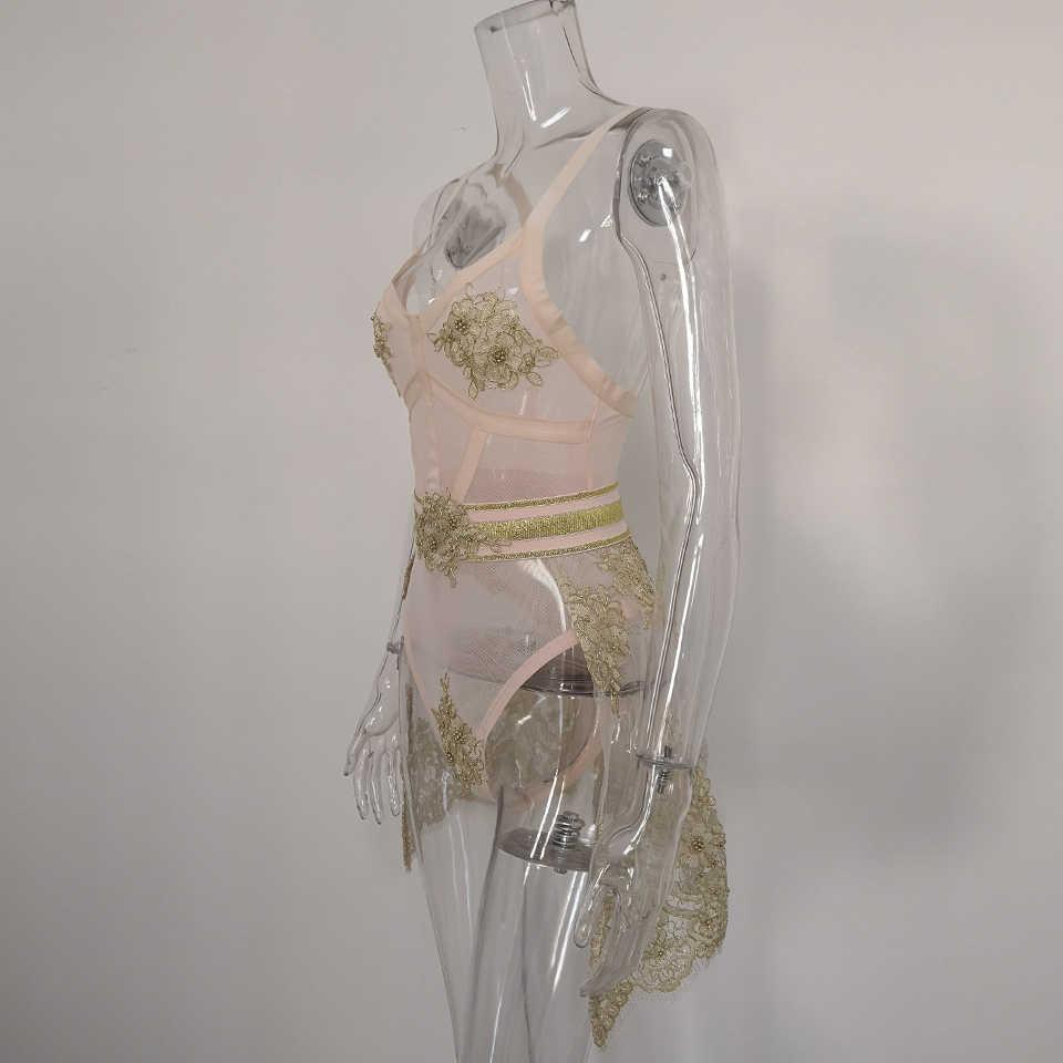 Karlofea женское роскошное платье из двух частей Топ и низ Золотая аппликация v-образный вырез тонкие женские Клубные вечерние платья сексуальные модные платья