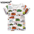 VIDMID baby boys t-shirt summer clothing for boys kids tees children short sleeve t shirt 100% cotton top quality designer brand