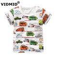 Vidmid bebé camiseta de los muchachos ropa de verano para niños camisetas de los niños niños camiseta de manga corta 100% algodón de calidad superior del diseñador marca