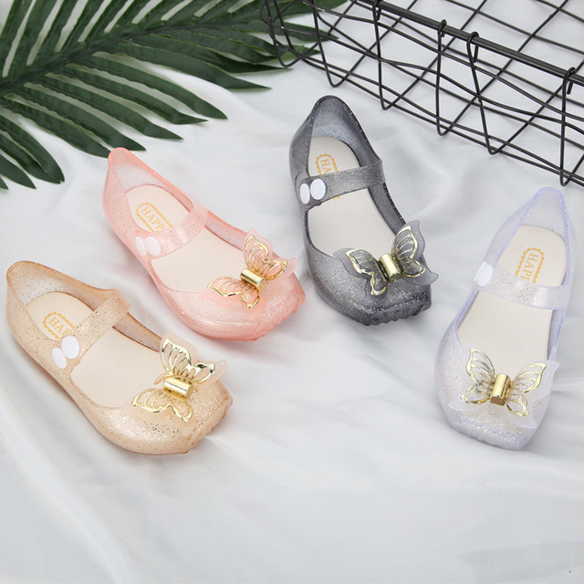 Mini Melissa Butterfly Kids Shoes Saturn Modle Children Jelly Sandals Soft  Bottom Princess Girl 2018 New Summer Size 22-27 f36deacf2508