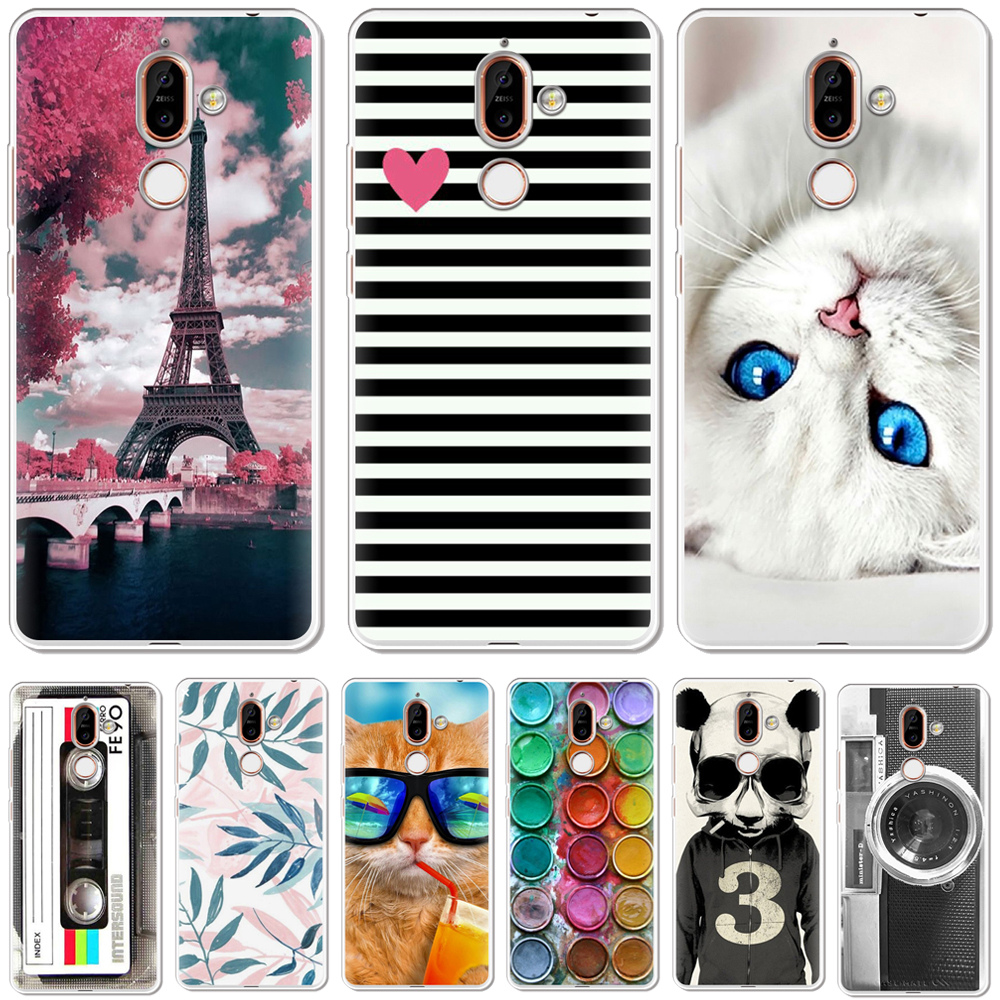 YIKS Soft Silicone <font><b>TPU</b></font> Phone Case Cover For <font><b>Nokia</b></font> 1 3 5 8 6 2 7 9 2.1 3.1 5.1 <font><b>6.1</b></font> 7.1 Plus 2018 Phone Back Cases Coque Etui image