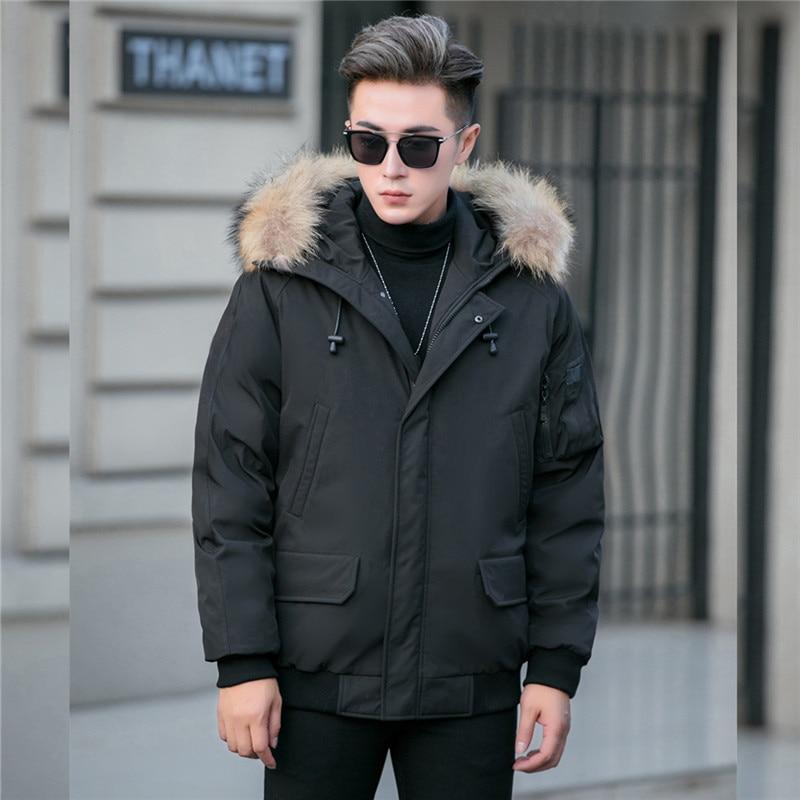 Giordano Men Coat Men Adjustable Hood Medium Long Style Quilted Coat Men Chest Zip Pocket Fashion