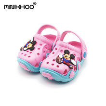 Mini Melissa 6 Color Mickey Pattern Children Garden Sandals 2018 Summer Fashion Children Shoes Cartoon Sandals Kids Sandals(China)