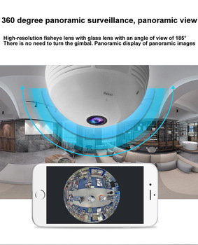 360 Degree Video Camera Panorama 1.3 - 2 - 5 Million Pixel Bulb With Hotspot Wireless WiFi Mobile Phone Remote Dual Light IP 1