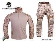EMERSON tactique Gen3 chemise pantalon Combat militaire bdu uniforme AOR1 EM8575 EM7026