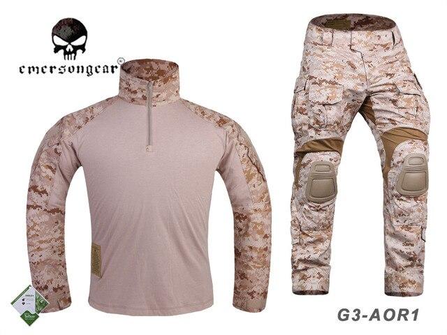 EMERSON taktyczne Gen3 koszula spodnie bojowe wojskowe bdu jednolite AOR1 EM8575 EM7026